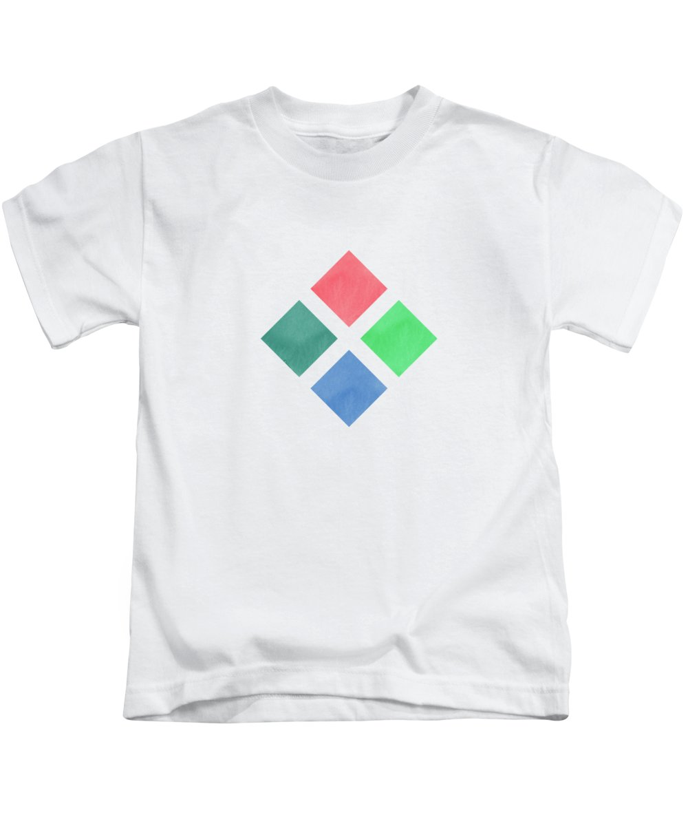 Watercolor Kids T-Shirt featuring the digital art Watercolor Geometric Background by Amir Faysal