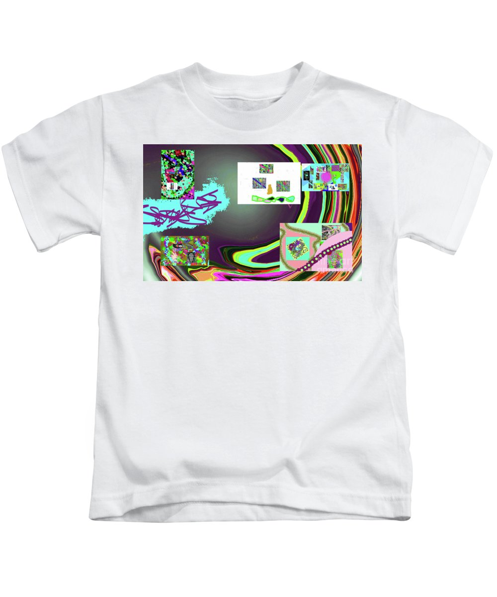 Walter Paul Bebirian Kids T-Shirt featuring the digital art 6-3-2015babcdefghijklmnopq by Walter Paul Bebirian