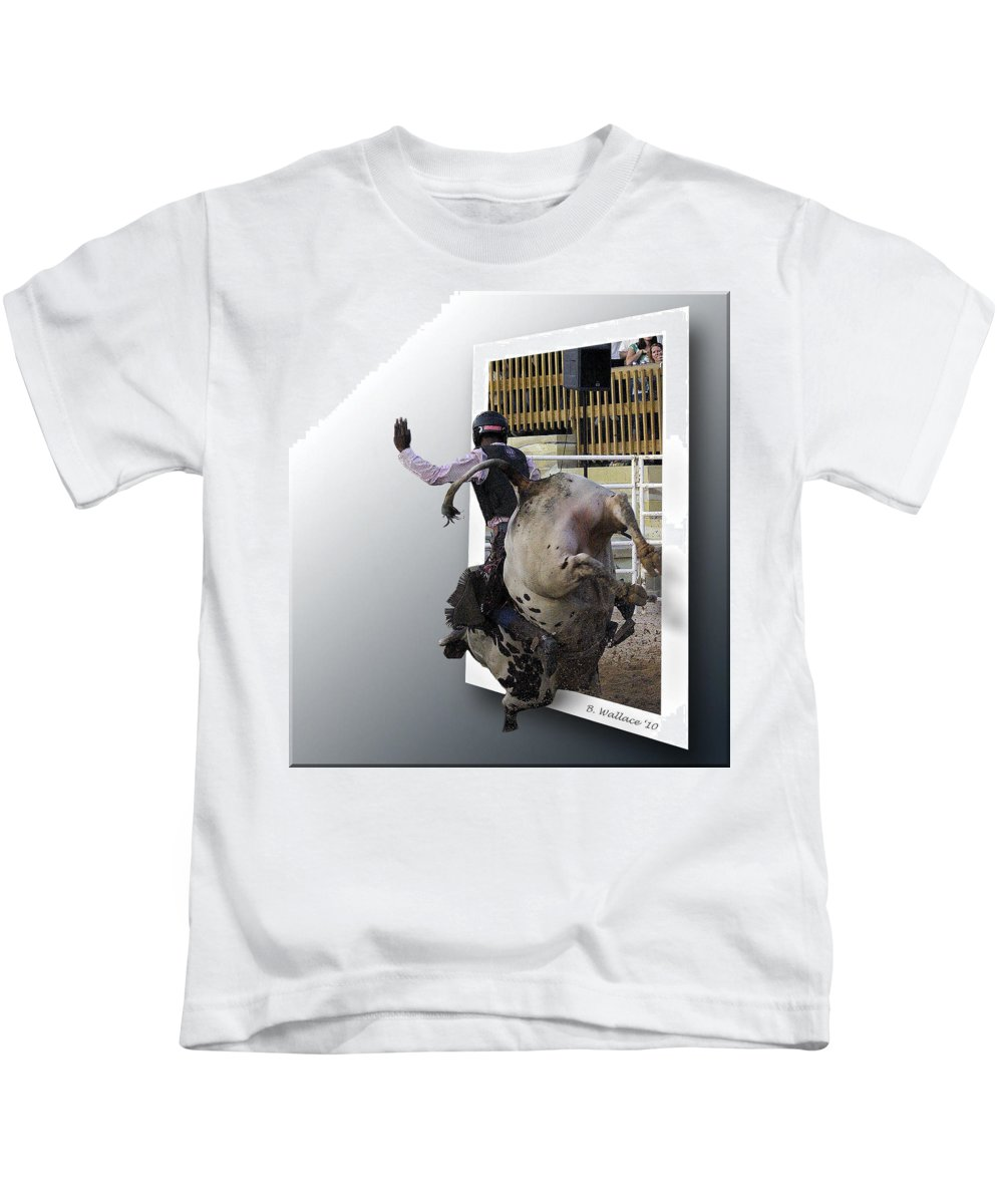 2d Kids T-Shirt featuring the photograph 8 Seconds by Brian Wallace