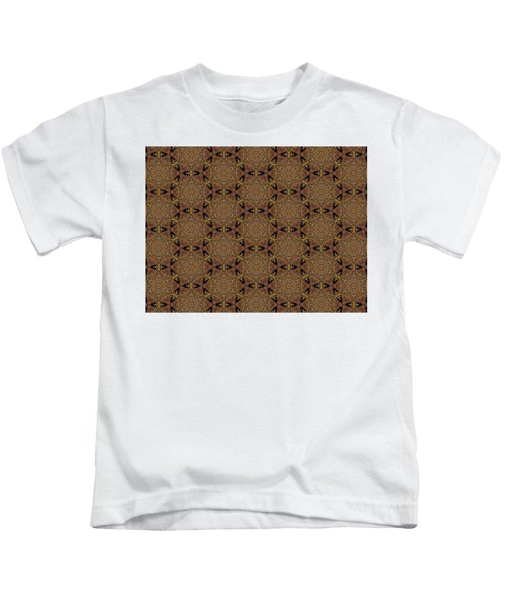 Marjan Mencin Kids T-Shirt featuring the digital art Arabesque 031 by Marjan Mencin