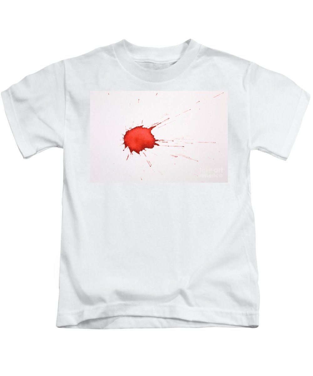 Blood Kids T-Shirt featuring the photograph Blood Droplet by Ted Kinsman
