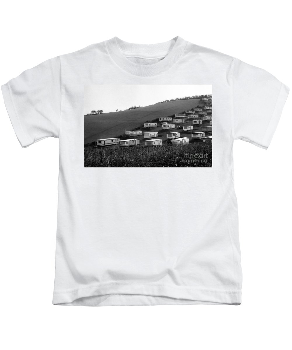 Landscapes Kids T-Shirt featuring the photograph A Camper Settlement by Morris Keyonzo