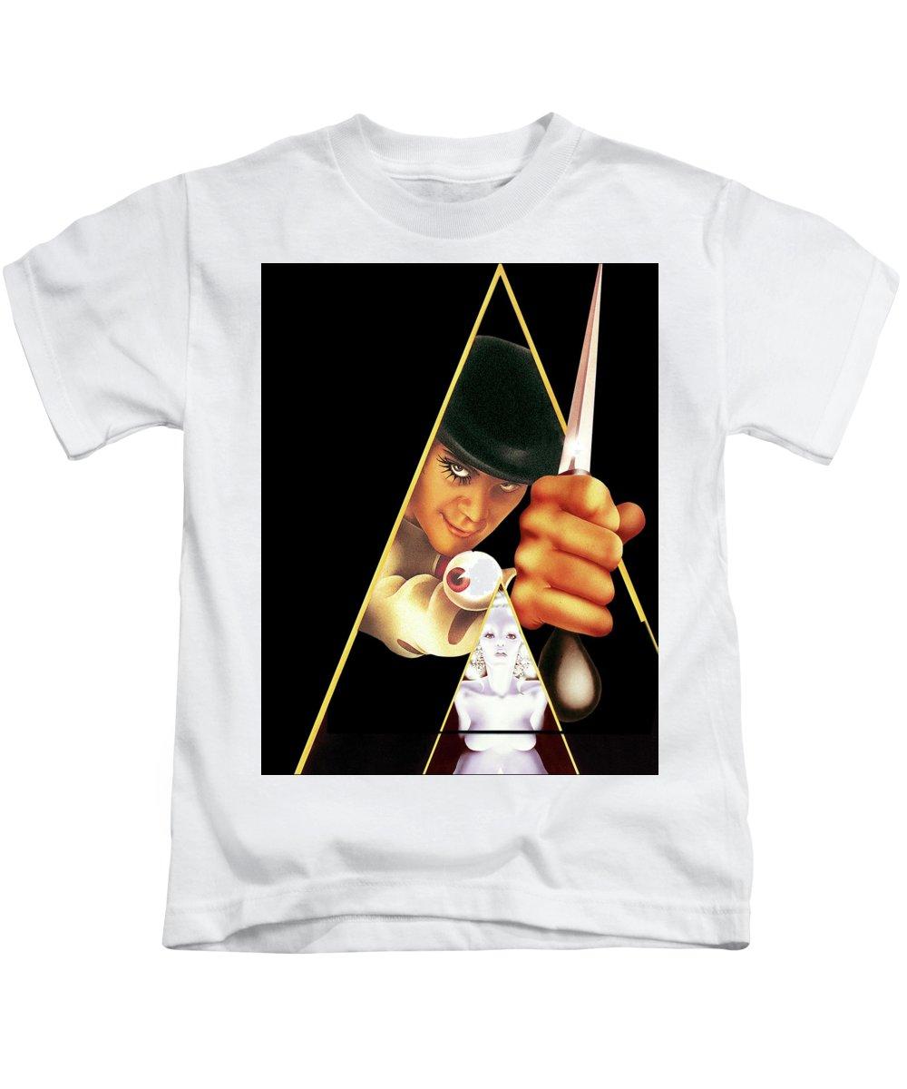 A Clockwork Orange 1971 Kids T-Shirt featuring the digital art A Clockwork Orange 1971 by Geek N Rock