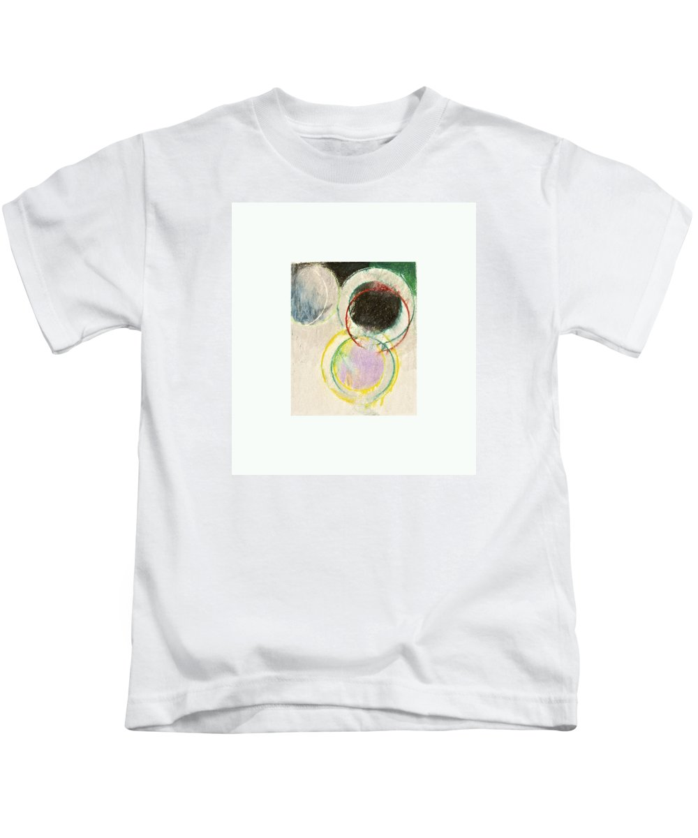 Abstract Kids T-Shirt featuring the drawing A Connotation Of A Veritable Shifting In The Resolution Of The Vortex --start-- by Cliff Spohn