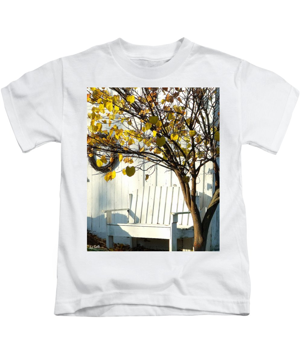 Cozy Kids T-Shirt featuring the photograph A Cozy Corner by Ed Smith