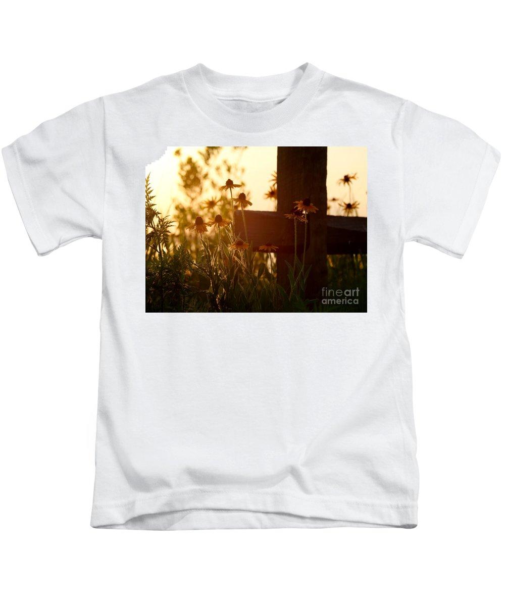 Flowers Kids T-Shirt featuring the photograph A Cross by Rachel Morrison