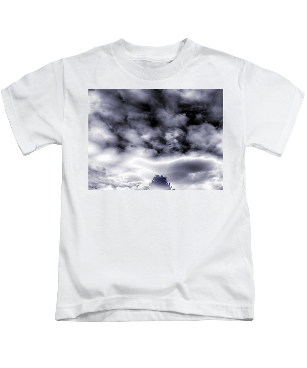 Storm Kids T-Shirt featuring the photograph A Dark Heaven's Storm by Abstract Angel Artist Stephen K