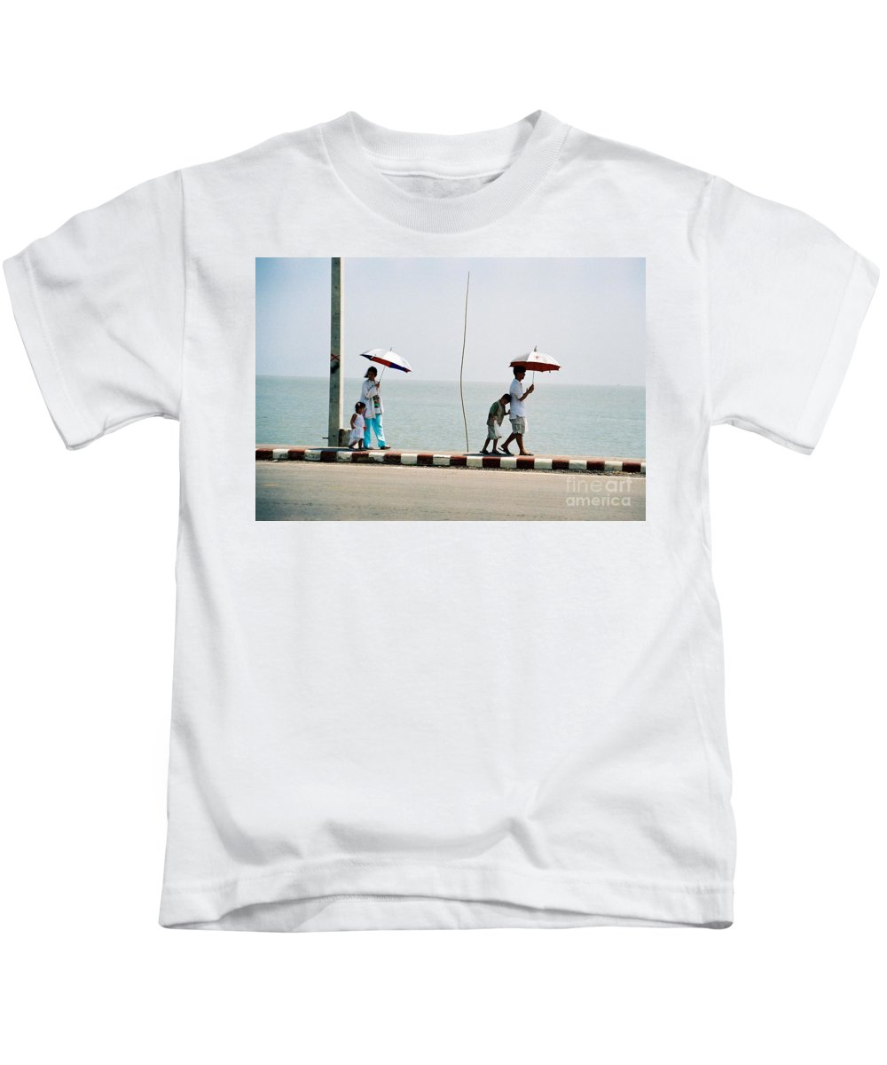 Landscape Kids T-Shirt featuring the photograph A Day By The Sea by Mary Rogers