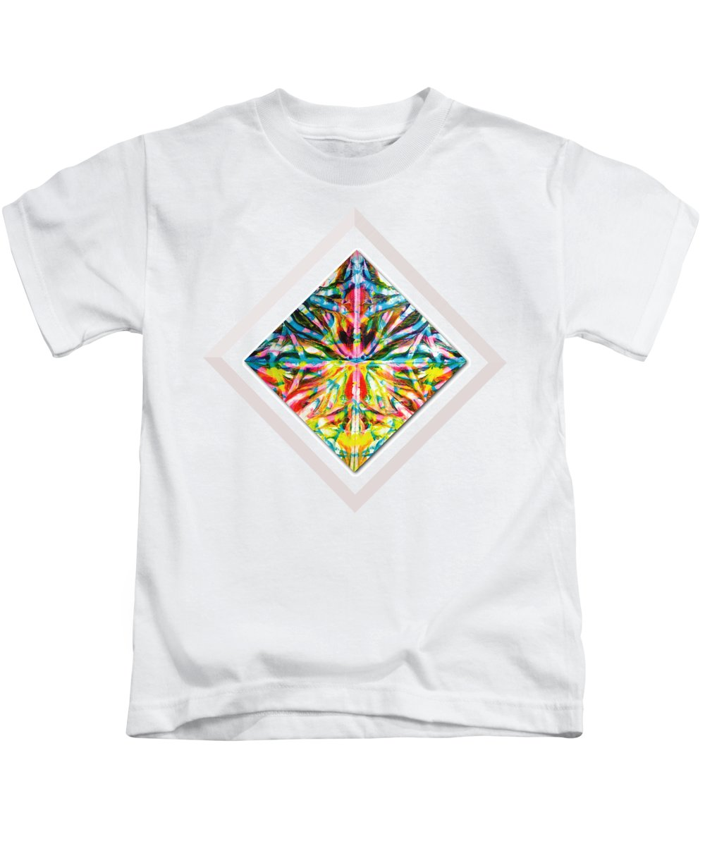 Diamond Hung Kids T-Shirt featuring the painting A Doorway Into The Light by Olga Carolan
