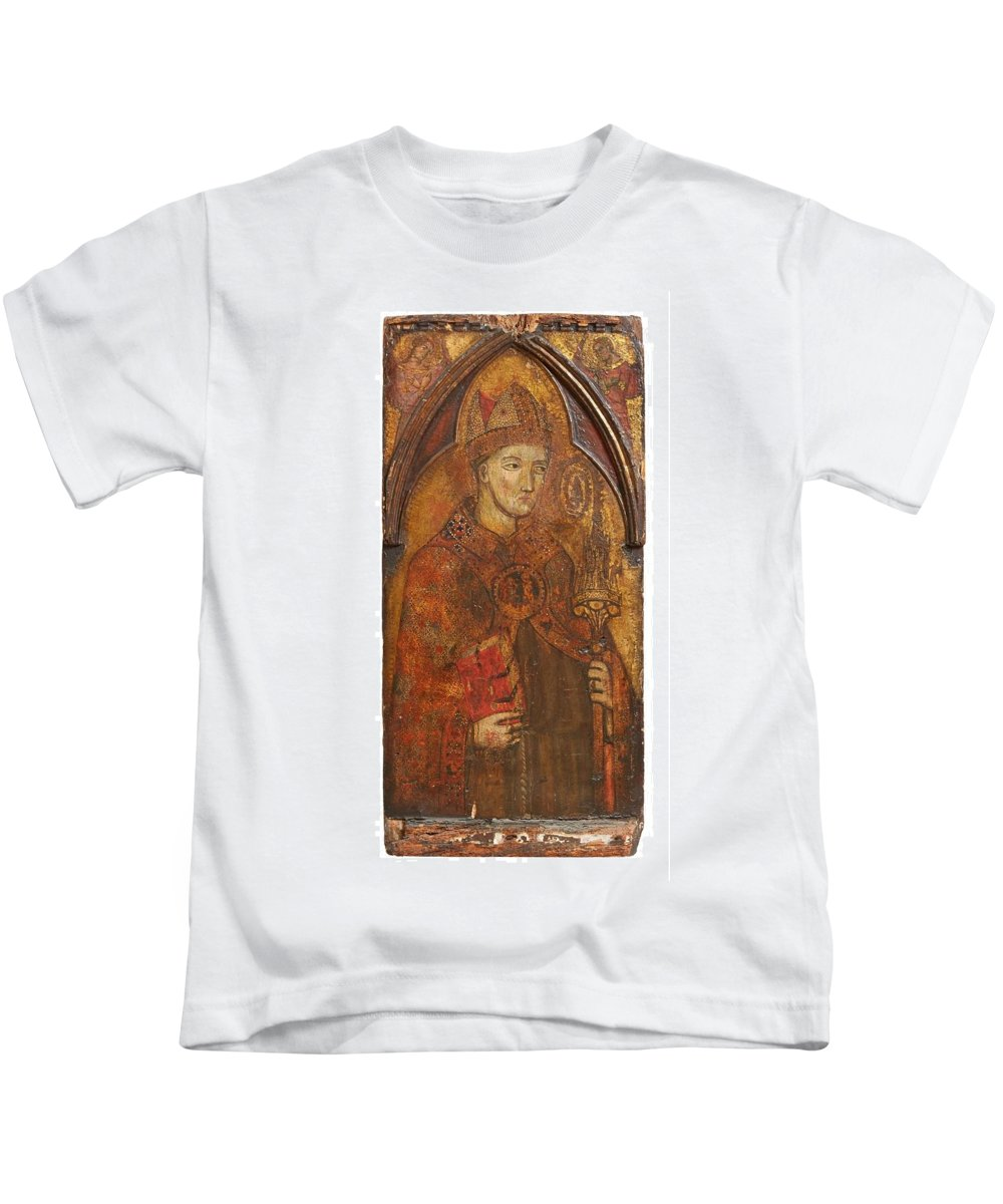 Siena Kids T-Shirt featuring the painting A Holy Bishop by Siena