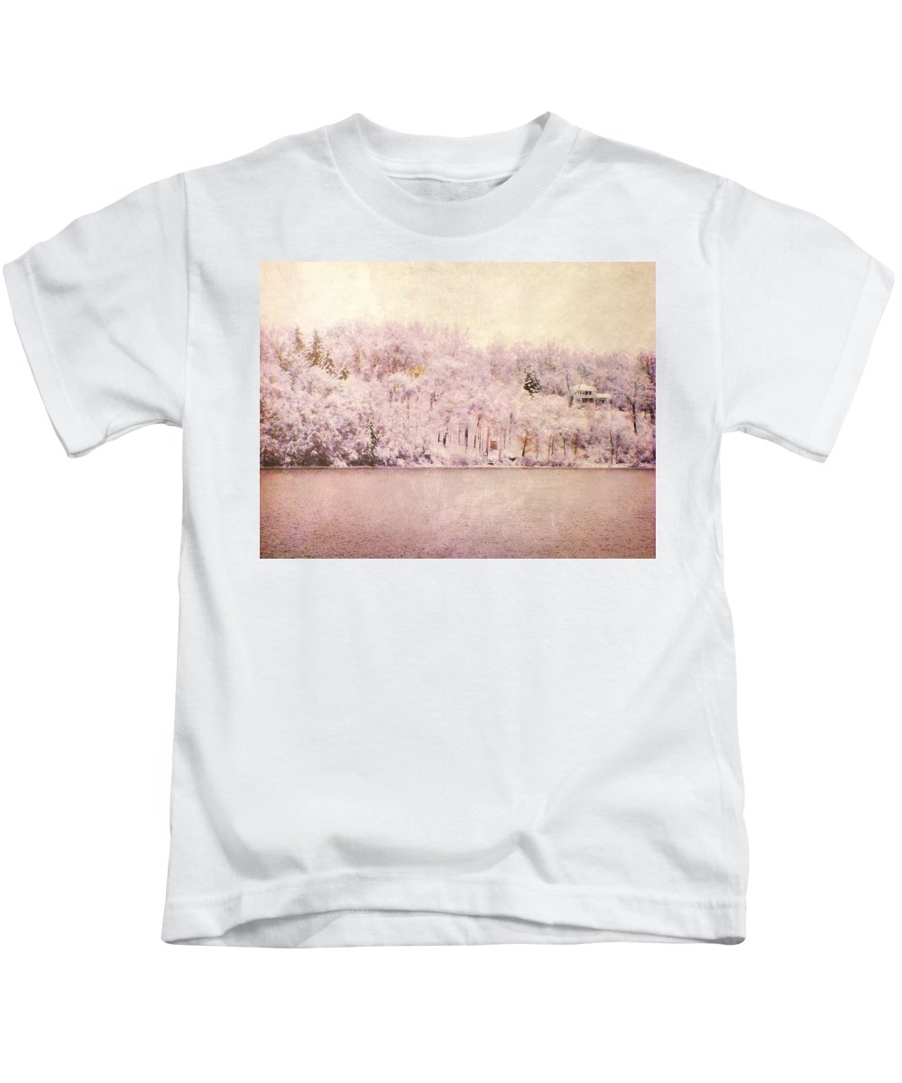 Trees Kids T-Shirt featuring the photograph A Late Winter Xiv by Tina Baxter