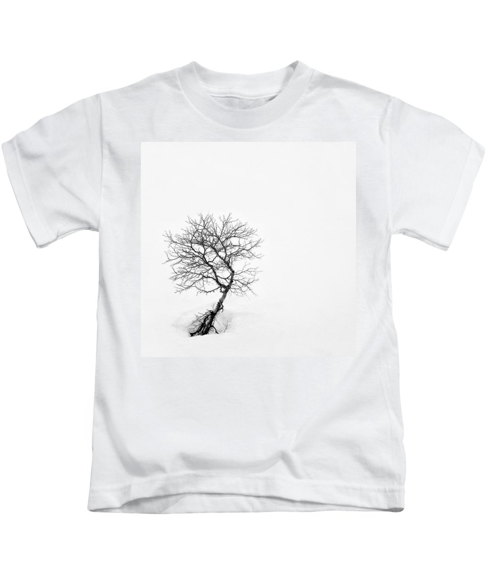 One Tree Kids T-Shirt featuring the photograph A Simple Tree by Dave Bowman