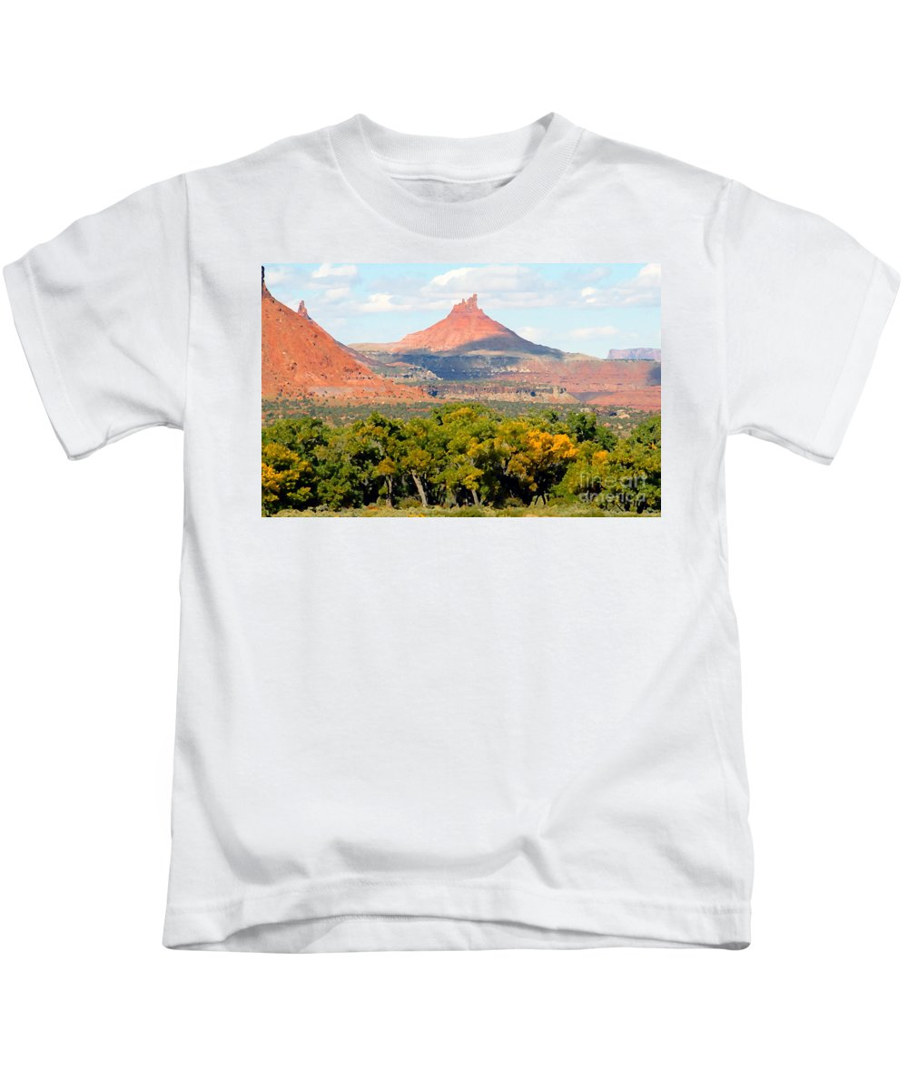 Fall Kids T-Shirt featuring the photograph A Touch Of Fall by David Lee Thompson