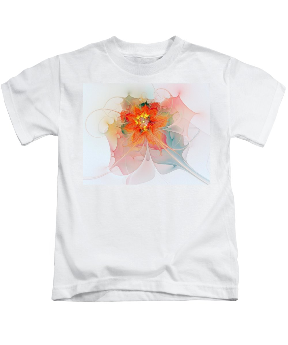 Digital Art Kids T-Shirt featuring the digital art A Touch Of Spring by Amanda Moore