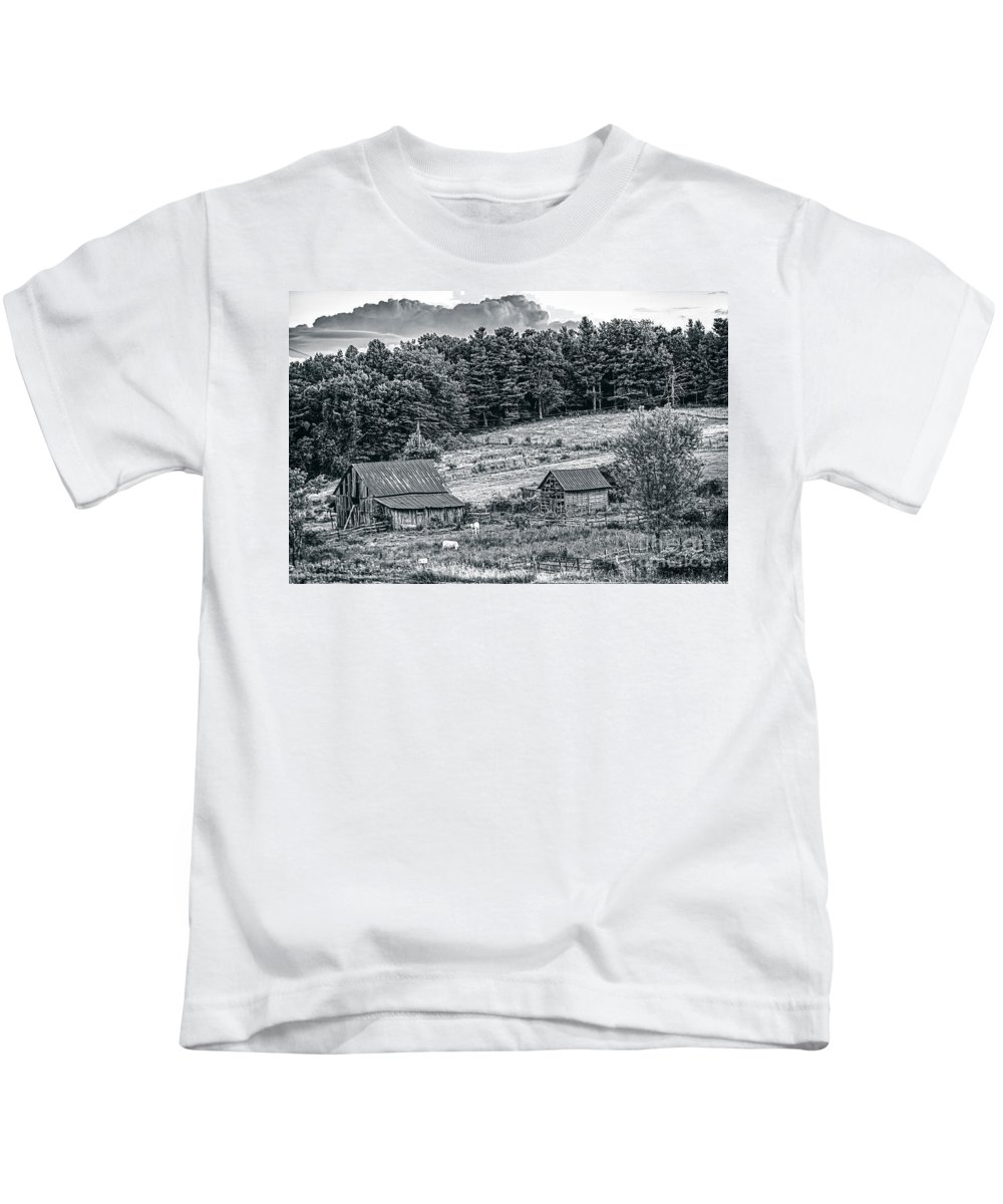 Farm Kids T-Shirt featuring the photograph Abandoned Farm Buildings by Rodney Cammauf