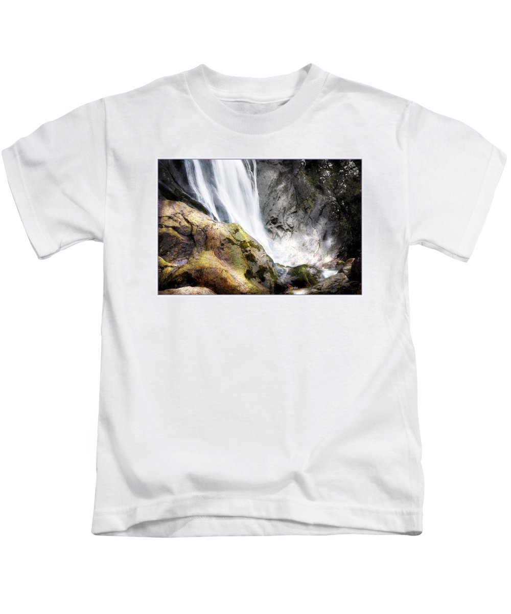 Aber Kids T-Shirt featuring the photograph Aber Falls by Mal Bray