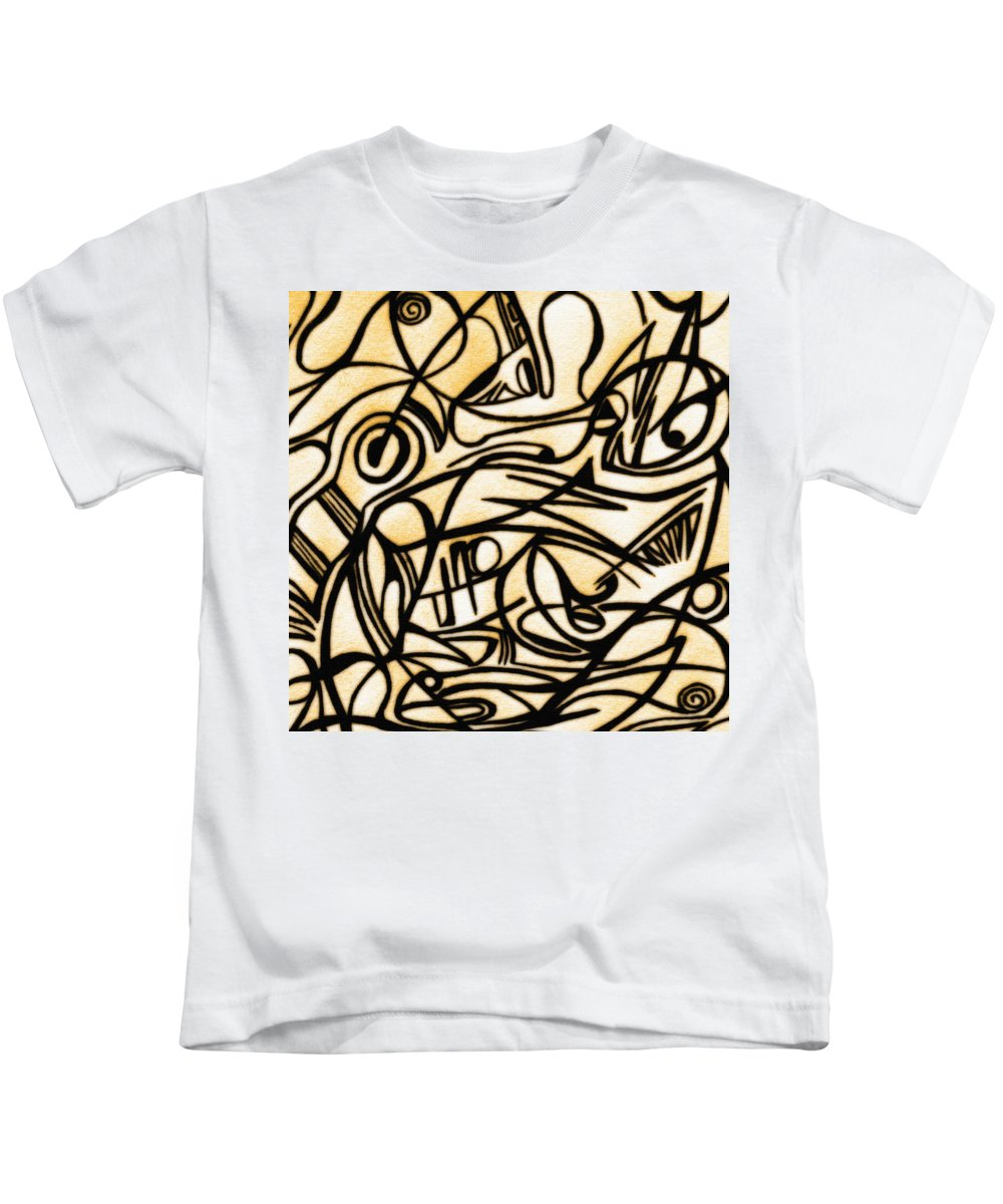 Flowers Kids T-Shirt featuring the photograph Abstract Art Gold 2 by Sumit Mehndiratta