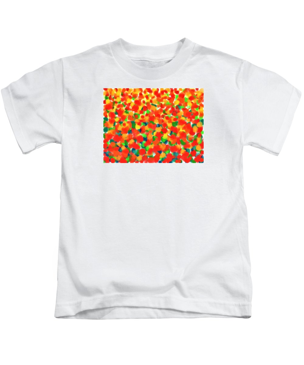 Painting Kids T-Shirt featuring the digital art Abstract Field by Cristina Stefan