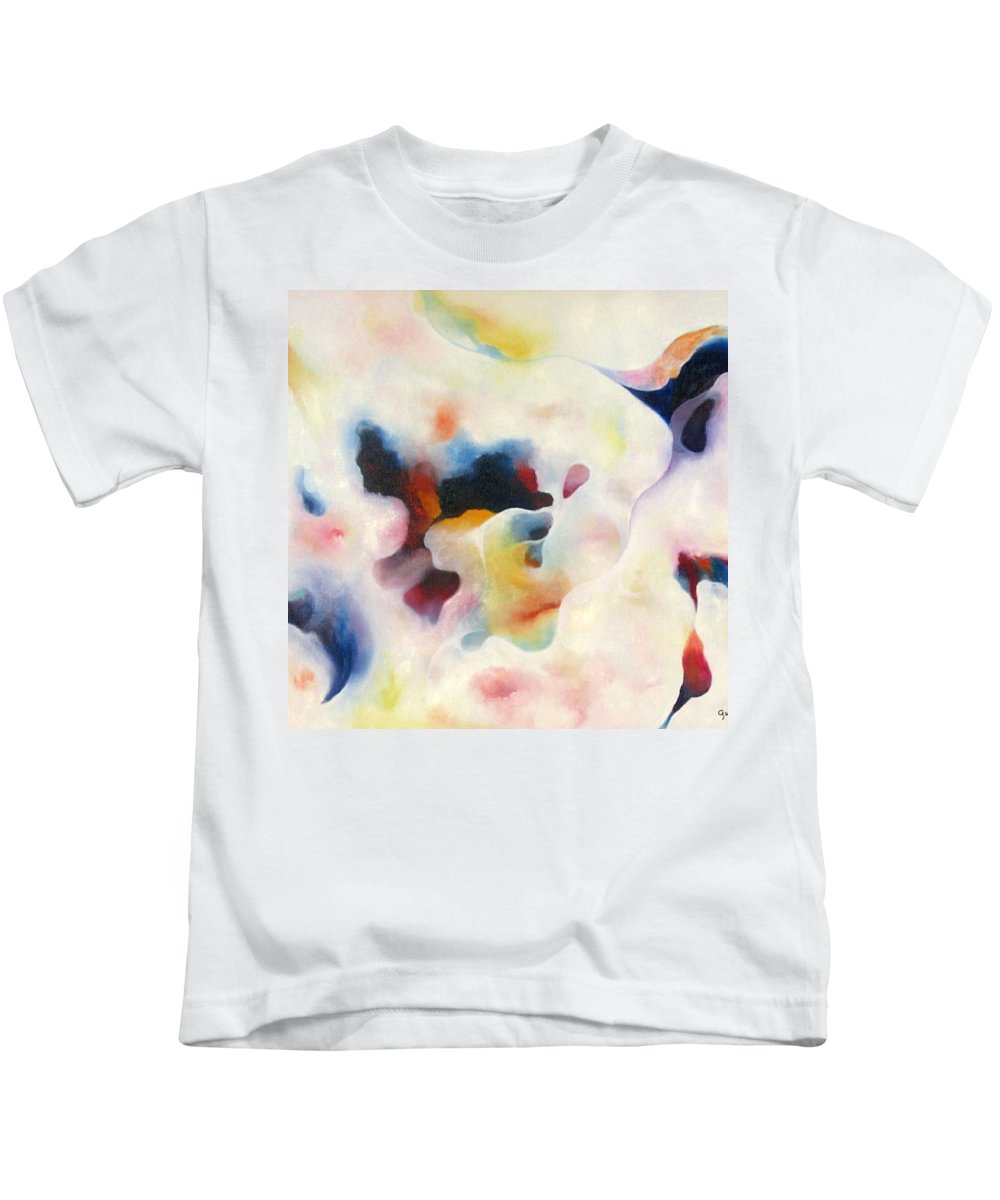 Abstract Kids T-Shirt featuring the painting Abstract II by Peggy Guichu
