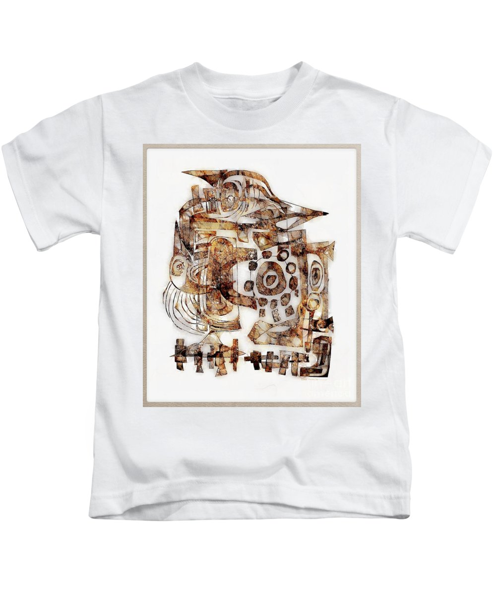 Abstraction Kids T-Shirt featuring the digital art Abstraction 3052 by Marek Lutek