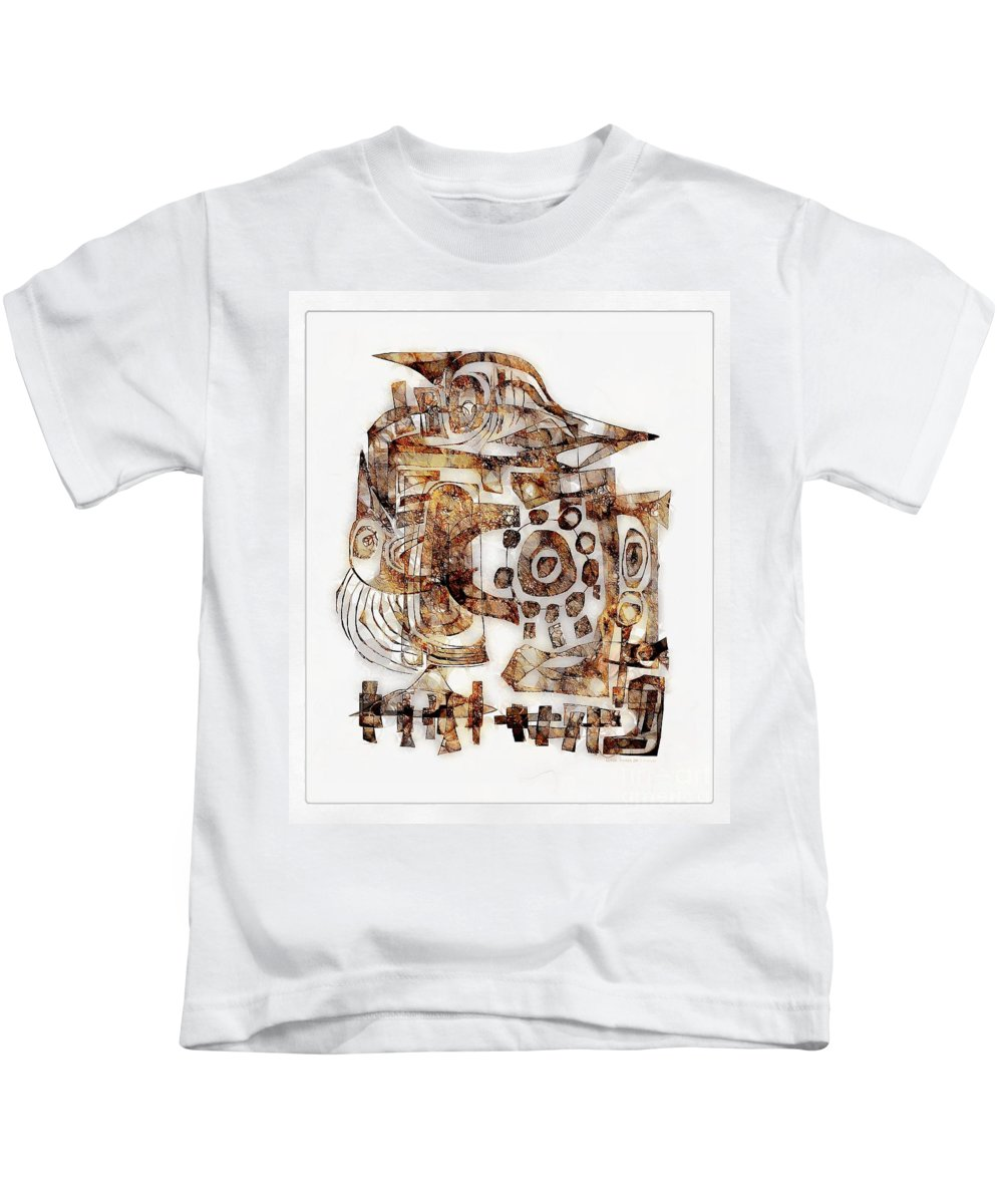 Abstraction Kids T-Shirt featuring the digital art Abstraction 3053 by Marek Lutek