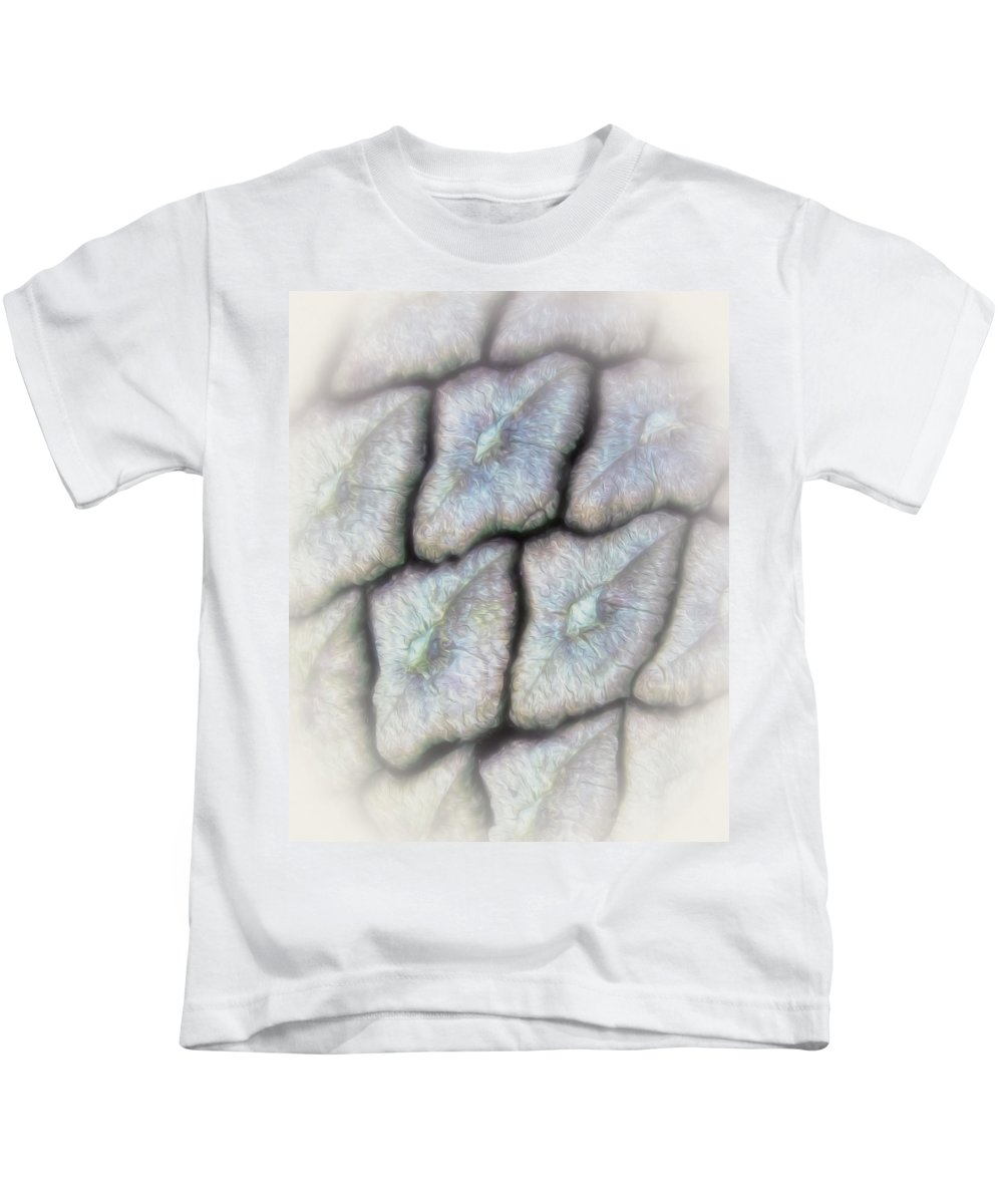 Pine Kids T-Shirt featuring the photograph Abstractions From Nature - Pine Cone by Mitch Spence
