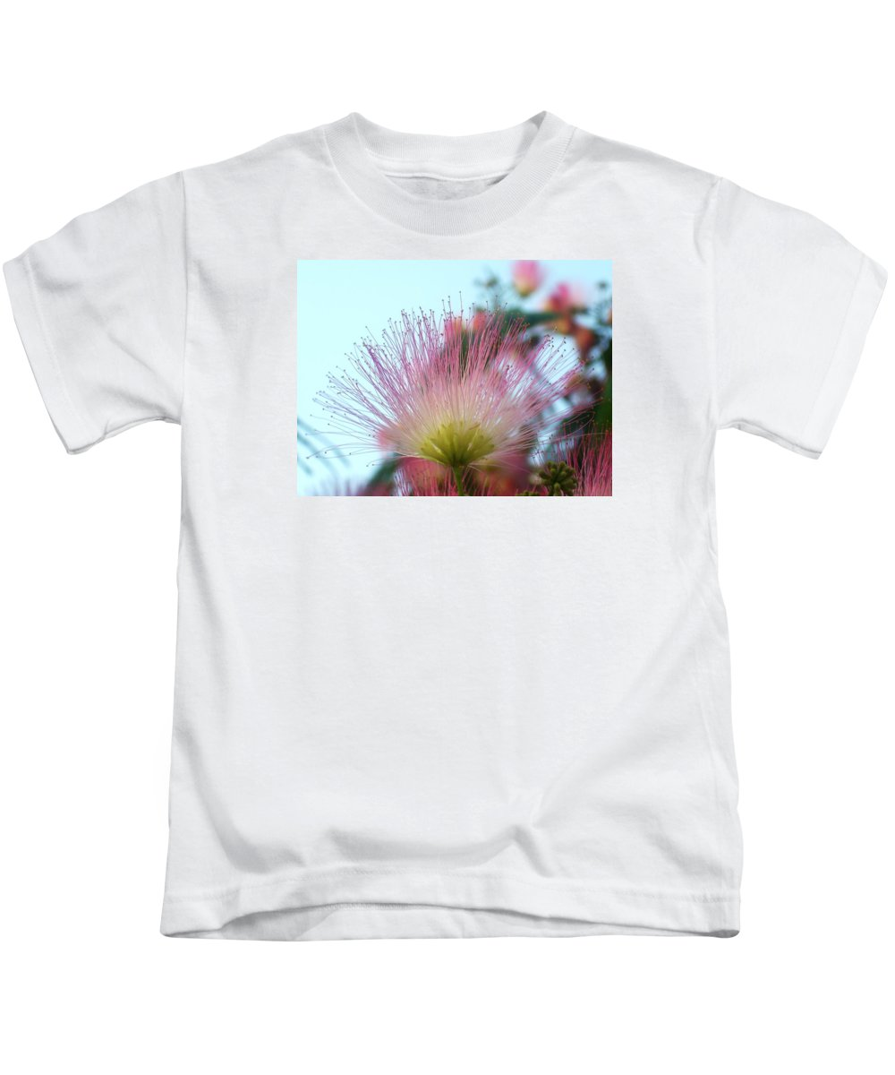 Acacia Kids T-Shirt featuring the photograph Acacia Bloom by Torie Beck