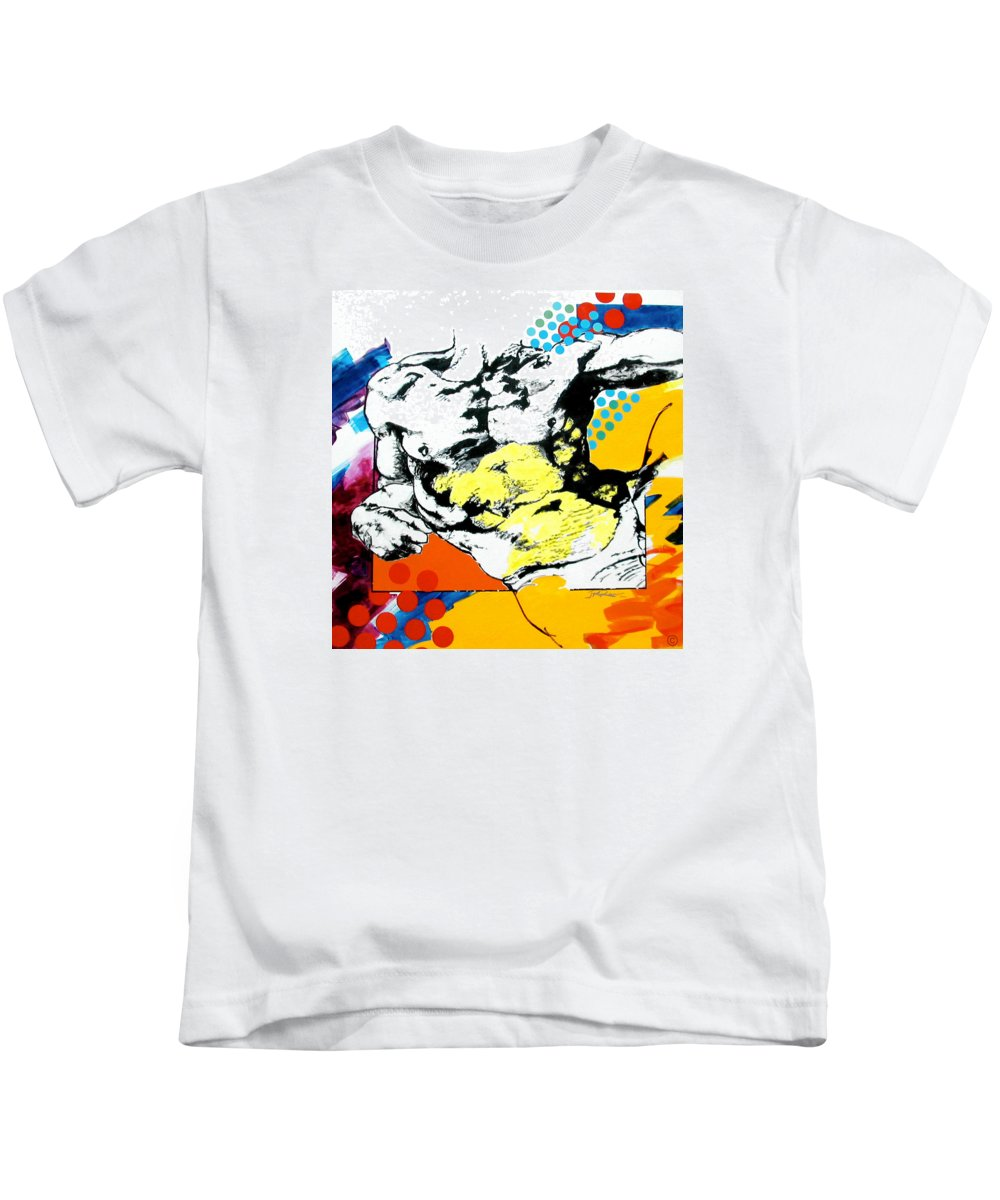 Pop Kids T-Shirt featuring the painting Adam by Jean Pierre Rousselet