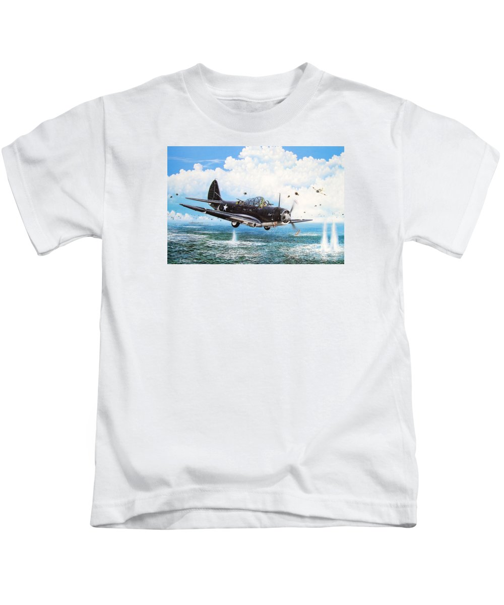 Military Kids T-Shirt featuring the painting Against The Odds by Marc Stewart