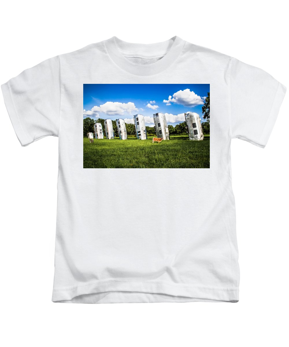 Airstream Kids T-Shirt featuring the photograph Airstream Ranch by Alan Ignatowski