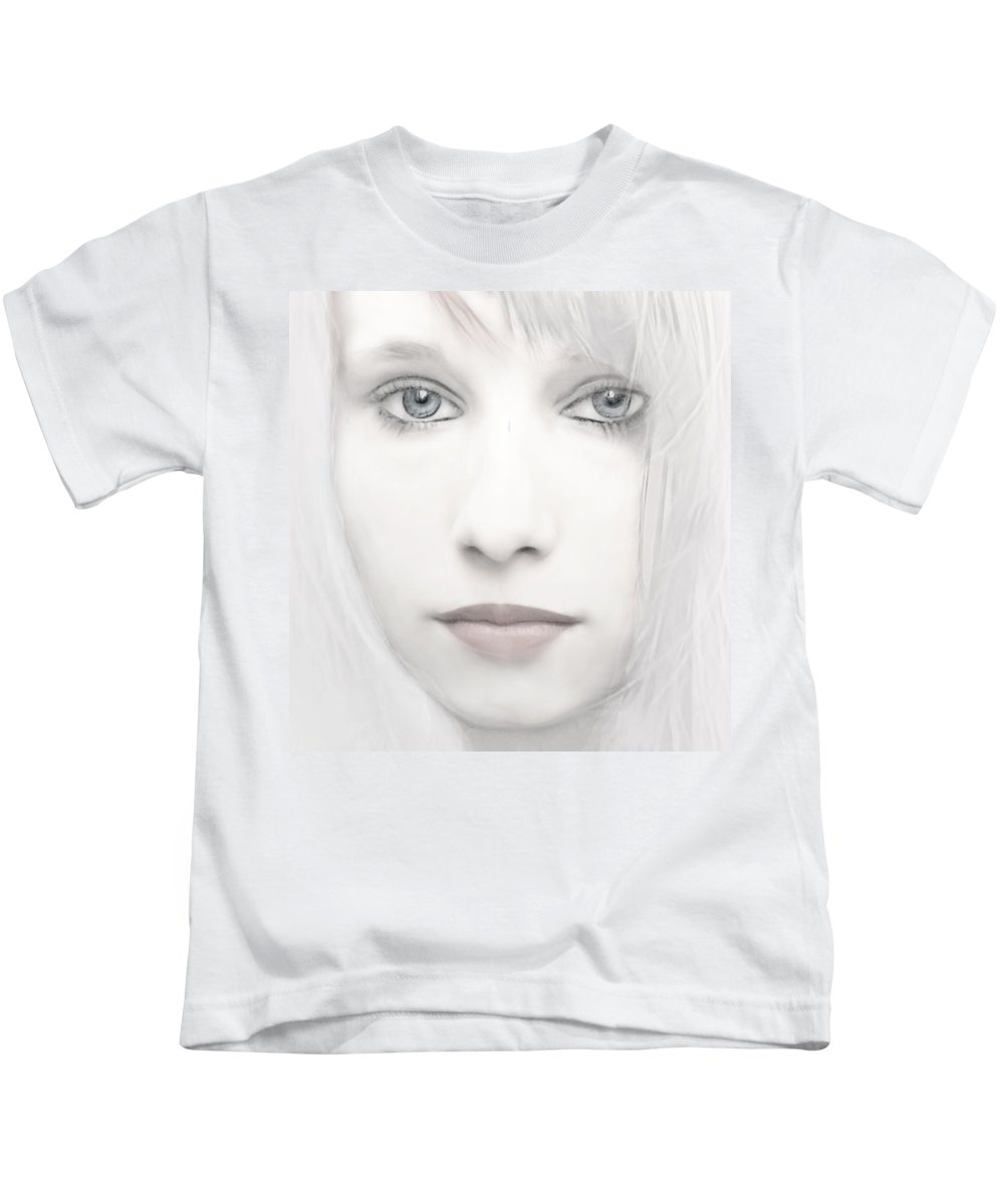 Woman Kids T-Shirt featuring the photograph Alabaster-face by Joachim G Pinkawa