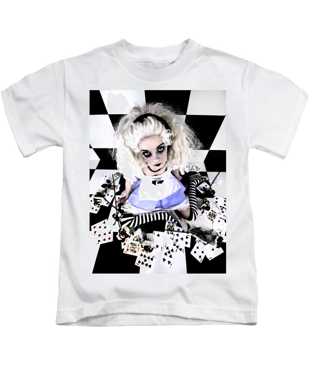 Alice In Wonderland Kids T-Shirt featuring the photograph Alice1 by Kelly Jade King