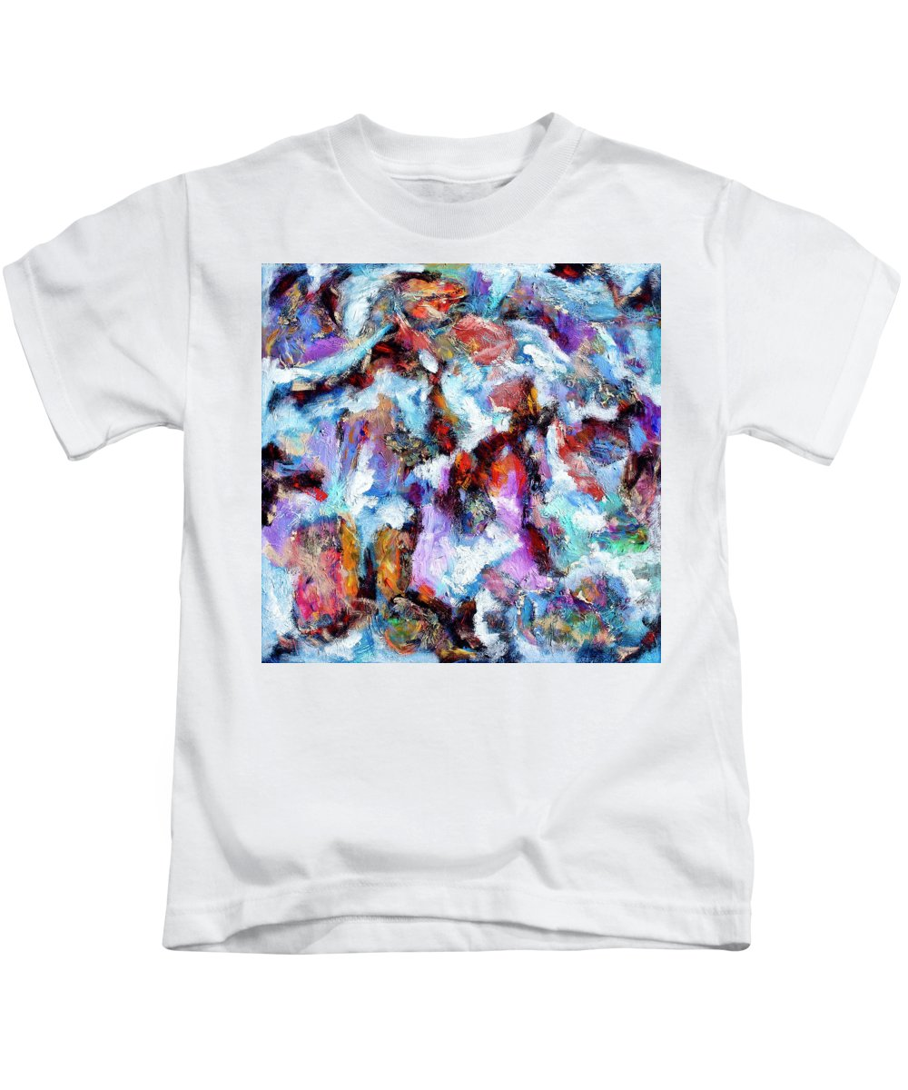 Abstract Kids T-Shirt featuring the painting All She Wrote by Dominic Piperata