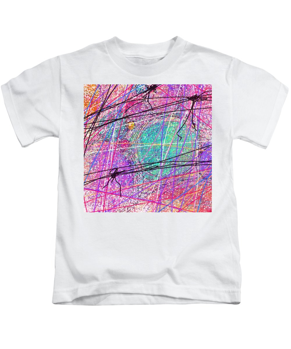 Abstract Kids T-Shirt featuring the digital art All Wrapped Up by Rachel Christine Nowicki