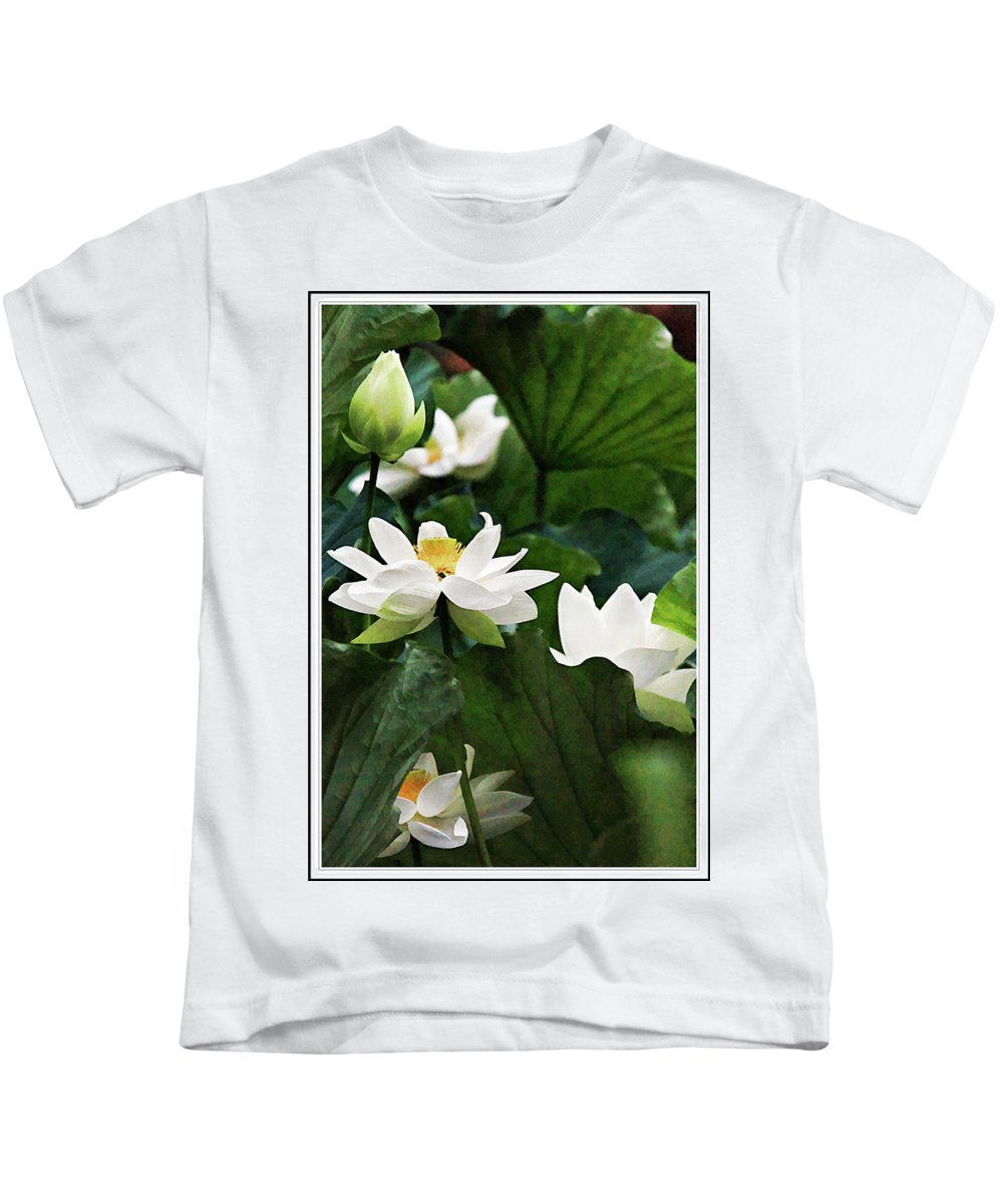 Recent Kids T-Shirt featuring the photograph Sacred Lotus Plant by Geraldine Scull