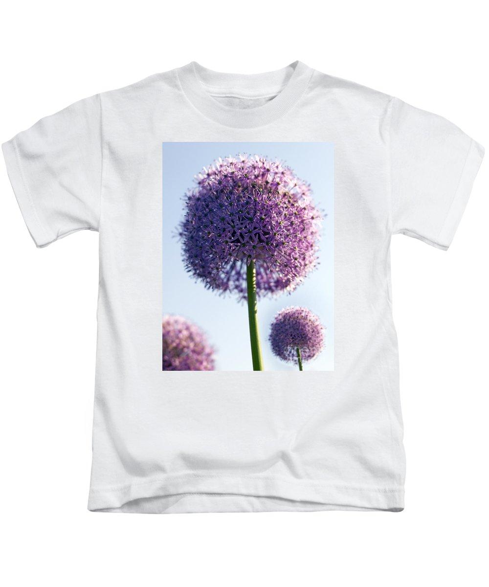 Allium Kids T-Shirt featuring the photograph Allium Flower by Tony Cordoza