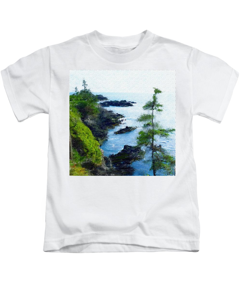 Digital Photograph Kids T-Shirt featuring the photograph Along The West Coast 1 by David Lane