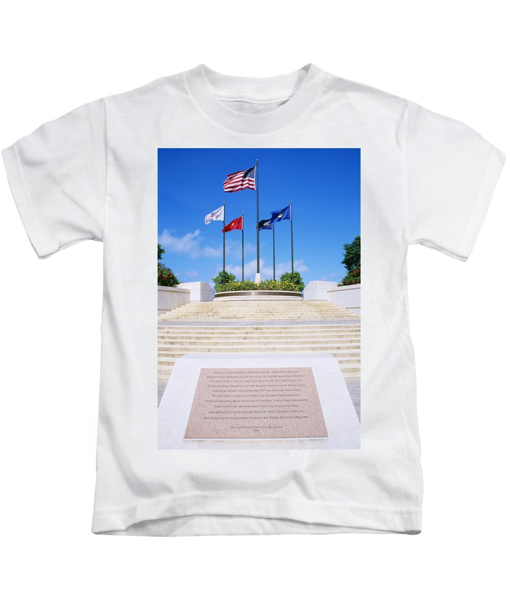 American Kids T-Shirt featuring the photograph American Memorial Park by Greg Vaughn - Printscapes