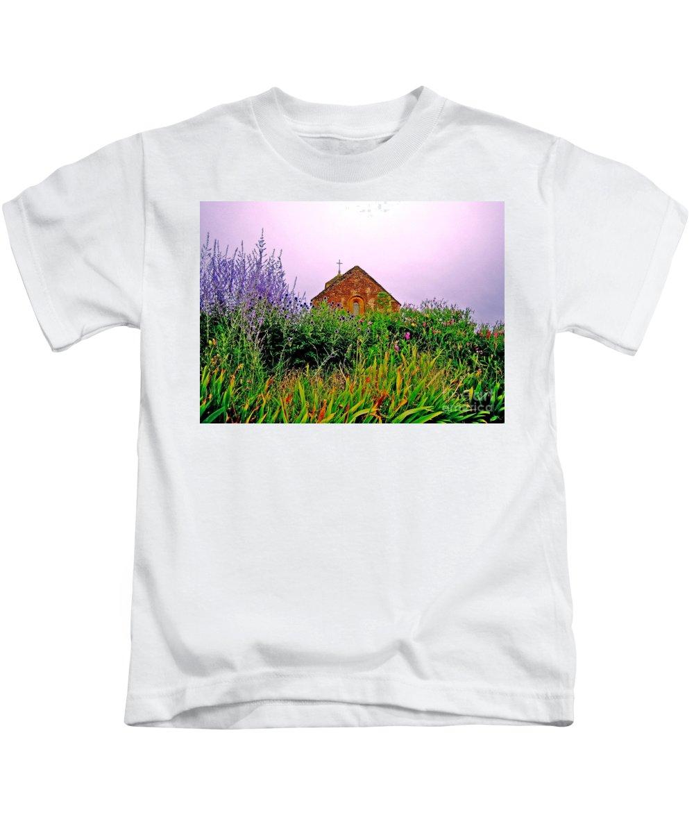 Chapel Kids T-Shirt featuring the photograph Ameugny 3 by Jeff Barrett