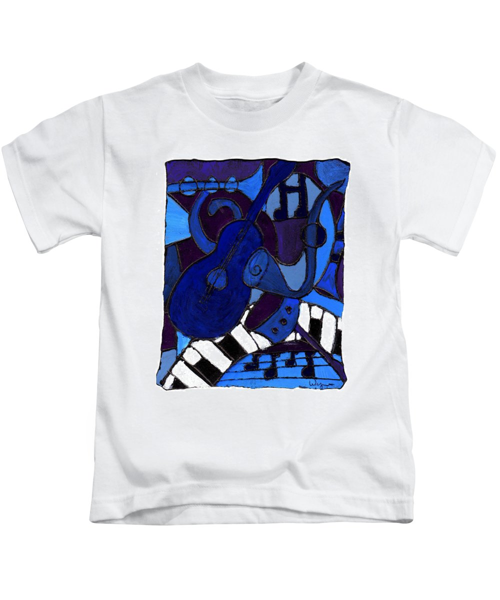 Blues Kids T-Shirt featuring the painting and All that Jazz one by Wayne Potrafka
