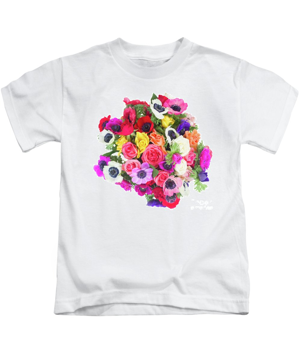 Anemone Kids T-Shirt featuring the photograph Bouquet Of Anemones by Anastasy Yarmolovich
