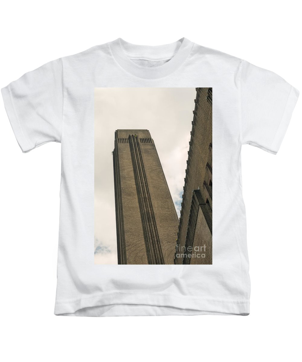 London Kids T-Shirt featuring the photograph Angled Frame by Martine DF
