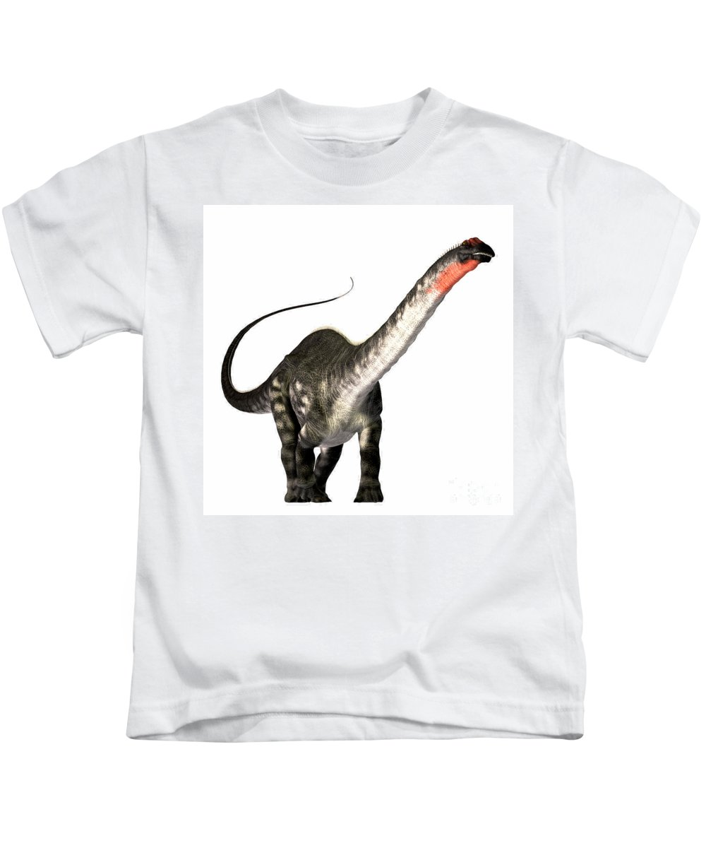 Apatosaurus Kids T-Shirt featuring the painting Apatosaurus Profile by Corey Ford
