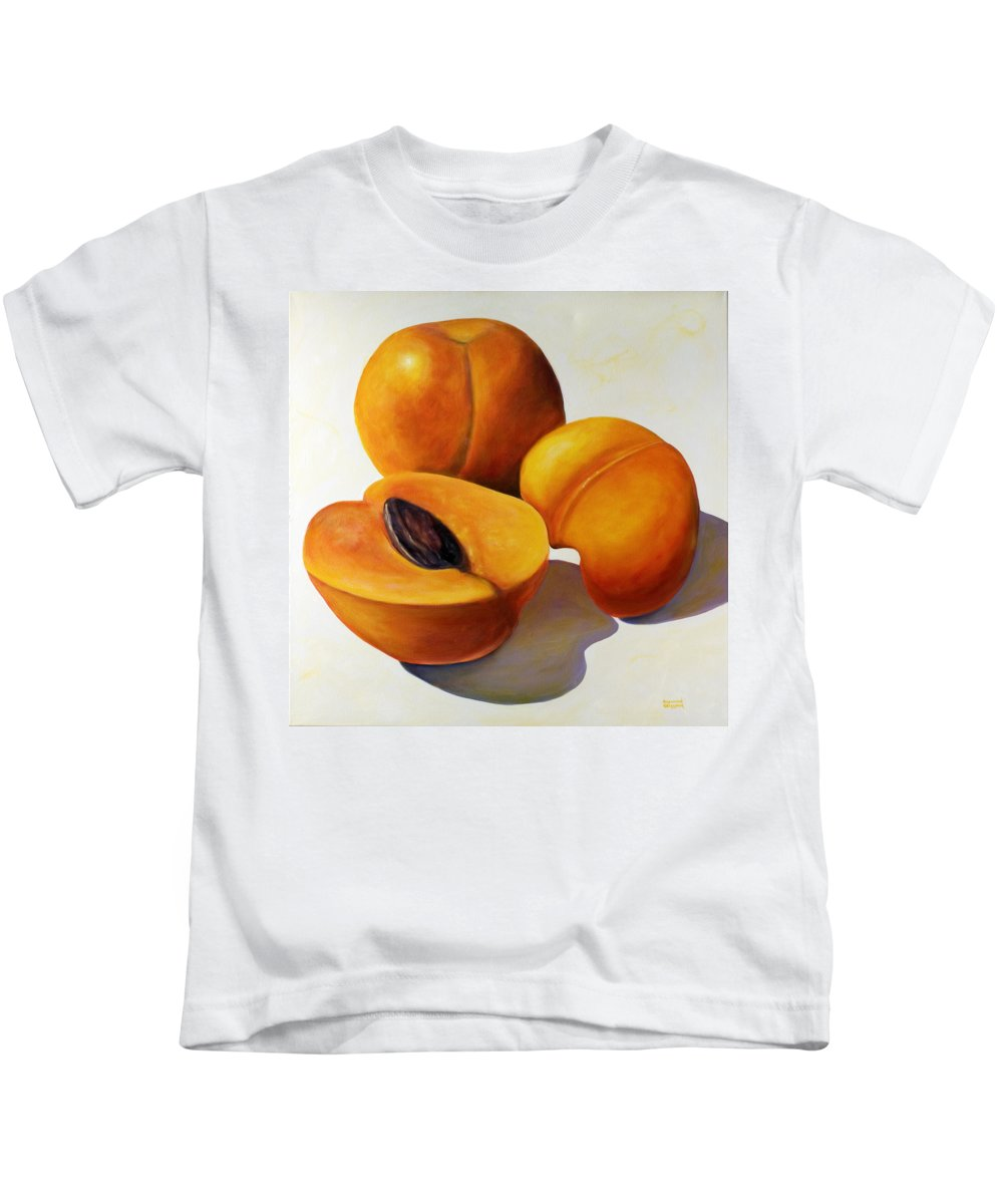 Apricots Kids T-Shirt featuring the painting Apricots by Shannon Grissom