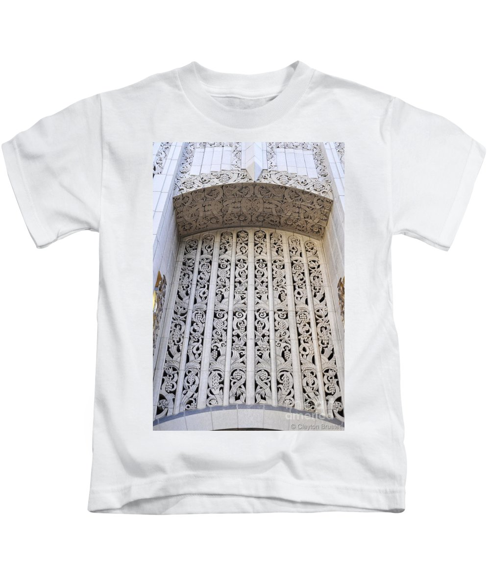 Clay Kids T-Shirt featuring the photograph Architecture Downtown Los Angeles by Clayton Bruster