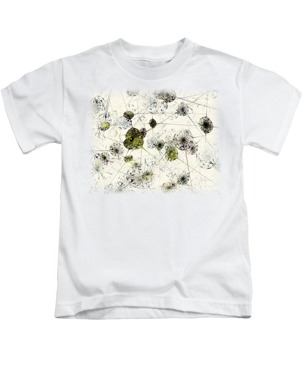 Malakhova Kids T-Shirt featuring the digital art Neural Network by Anastasiya Malakhova