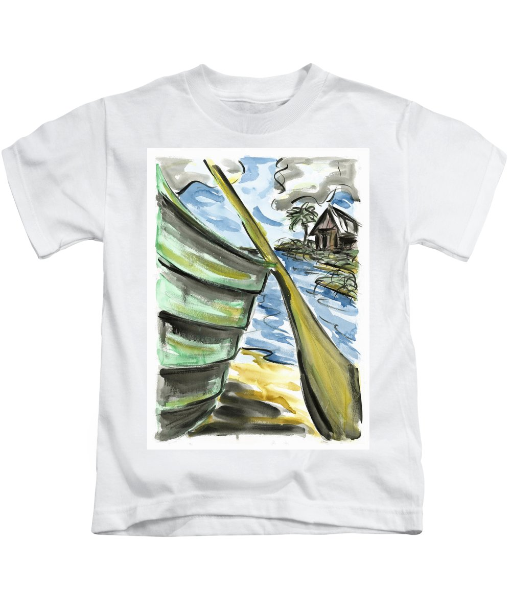 Seascape Kids T-Shirt featuring the painting Ashore by Robert Joyner