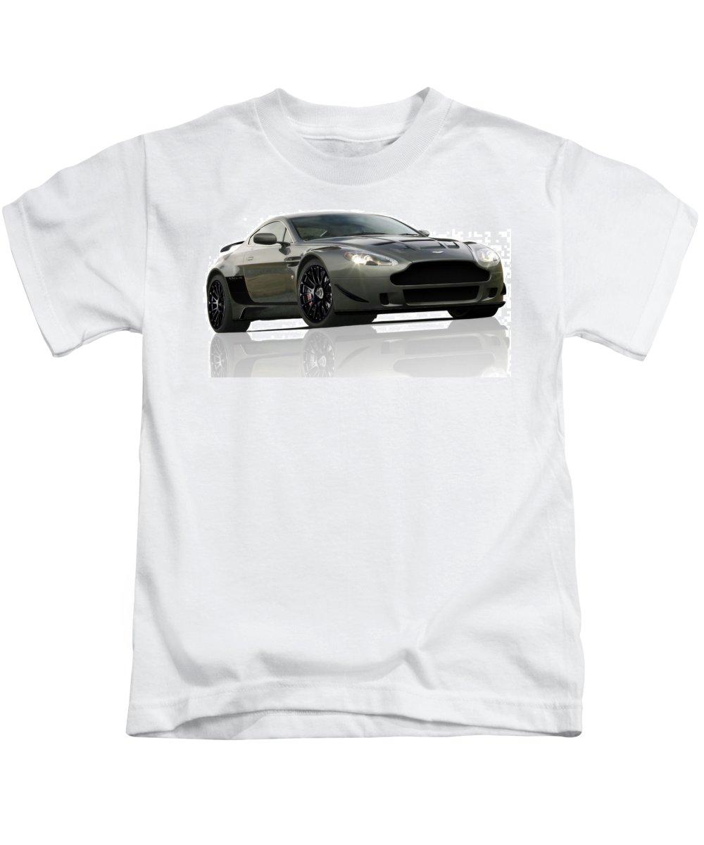 Aston Martin Lmv/r Kids T-Shirt featuring the digital art Aston Martin Lmv/r by Dorothy Binder