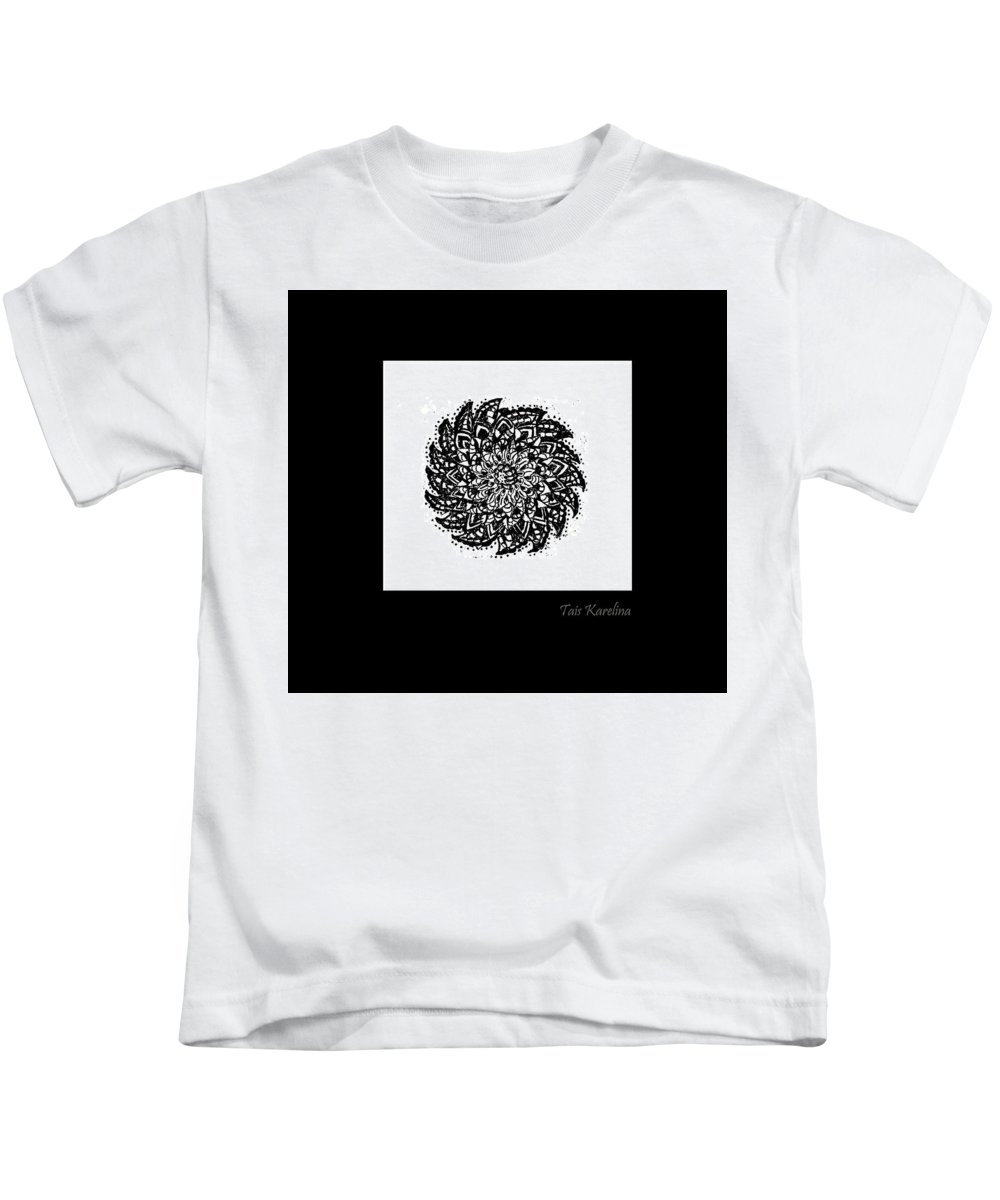 Paper Kids T-Shirt featuring the painting Astra by Tais Karelina
