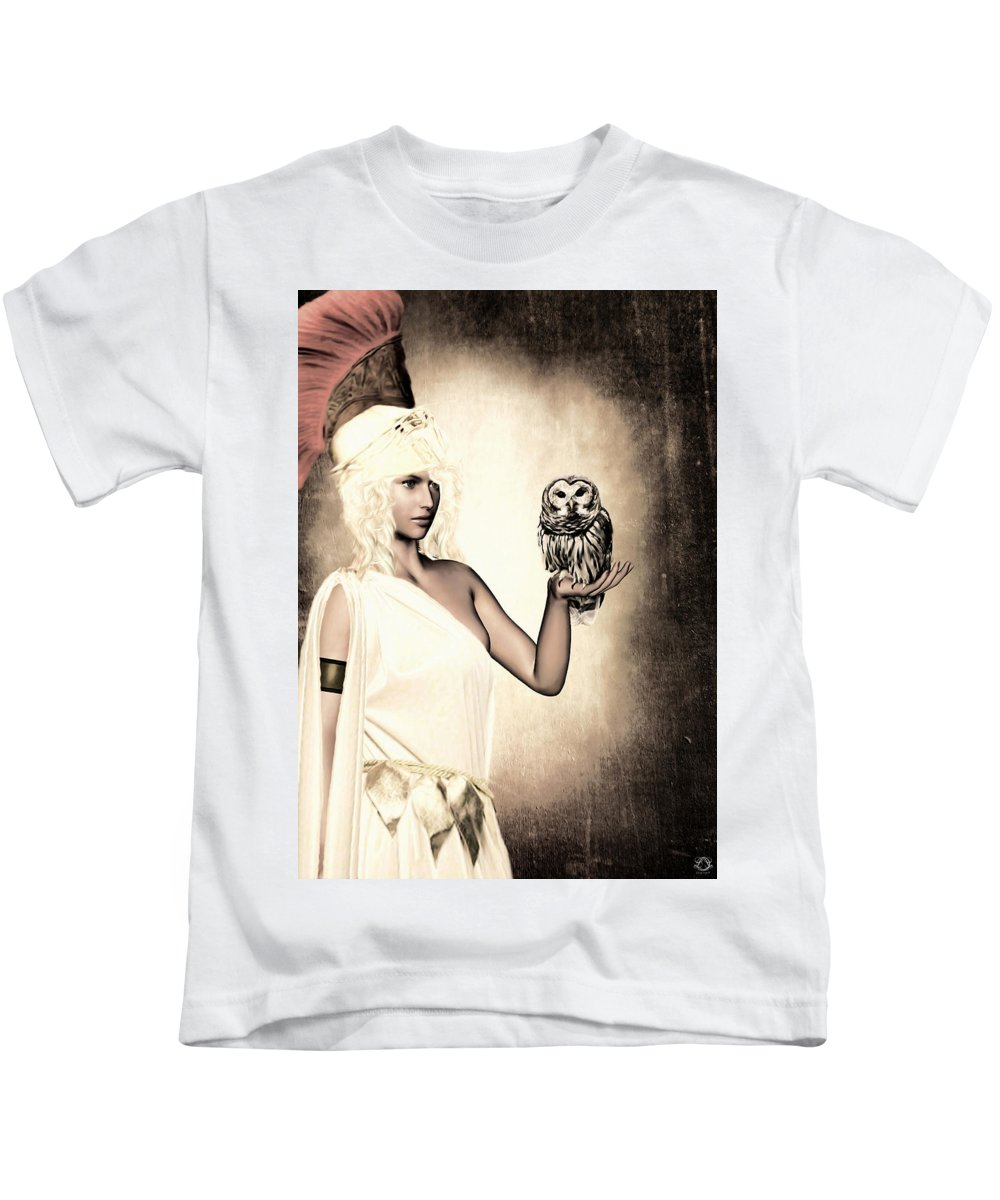 Athena Kids T Shirt For Sale By Lourry Legarde